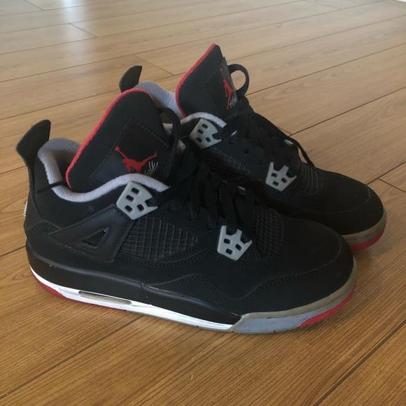 3c865a99bf9 Jordan Shoes - Nike Air Jordan 4 Retro GS - Bred - 5Y